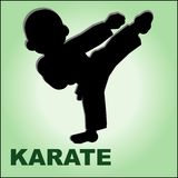 Karate kid. MARTIAL ARTS. Royalty Free Stock Images