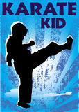 Karate kid poster. Vector. Stock Photography