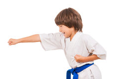 Karate kid. Royalty Free Stock Images