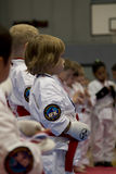 Karate kids Royalty Free Stock Photos