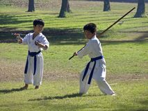 Karate Kids. Event:  2008 Okinawan Festival Stock Photo