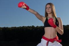 Karate Kizame Zuke Stockfotos
