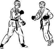 Karate Kyokushinkai Kampfkunstsport Lizenzfreie Stockbilder