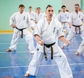 Karate lesson Stock Photography