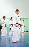 Karate lesson Royalty Free Stock Image