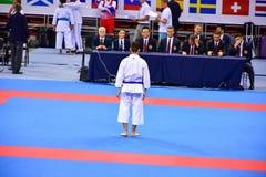 Karate 1 - liga Sofía 2018, 25-27 de mayo de la juventud Imagenes de archivo