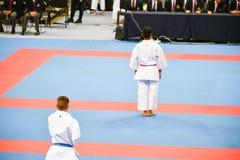 Karate 1 - liga Sofía 2018, 25-27 de mayo de la juventud Imagen de archivo