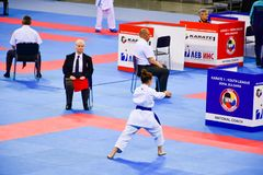Karate 1 - liga Sofía 2018, 25-27 de mayo de la juventud Imágenes de archivo libres de regalías