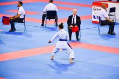 Karate 1 - liga Sofía 2018, 25-27 de mayo de la juventud Fotos de archivo libres de regalías