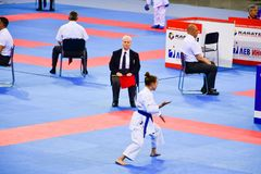 Karate 1 - liga Sofía 2018, 25-27 de mayo de la juventud Foto de archivo