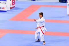 Karate 1 - liga Sofía 2018, 25-27 de mayo de la juventud Fotografía de archivo