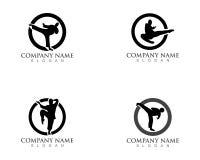 Karate logos icons.  Stock Image