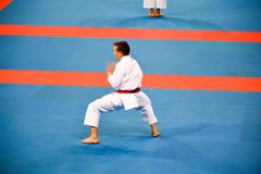 Karate 1 - młodość liga Sofia 2018, Maj 25-27 Zdjęcia Royalty Free