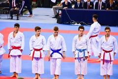 Karate 1 - młodość liga Sofia 2018, Maj 25-27 Zdjęcia Stock