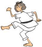 Karate mama Obraz Stock