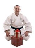 Karate man Royalty Free Stock Photos
