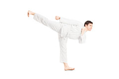 A karate man exercising Royalty Free Stock Photography