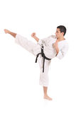 Karate man exercising Stock Photo