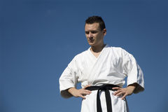 Karate - man in kimono Royalty Free Stock Photography