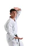 Karate. Man in a kimono Stock Image