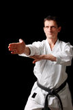 Karate. Man in a kimono Stock Photography