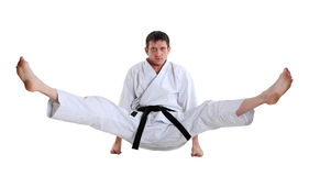 Karate. Man in a kimono Royalty Free Stock Photo