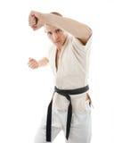 Karate. Man in a kimono Royalty Free Stock Photography