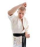 Karate. Man in a kimono Stock Photography