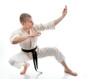 Karate. Man in a kimono Royalty Free Stock Image