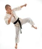 Karate. Man in a kimono Stock Images