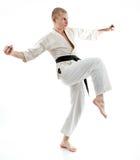 Karate. Man in a kimono Stock Photos