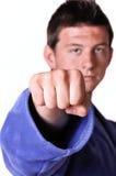 Karate man posing Stock Photo