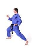 Karate man posing Royalty Free Stock Image