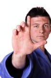 Karate man posing Royalty Free Stock Photos