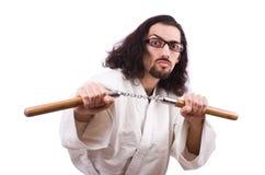 Free Karate Man With Nunchucks Royalty Free Stock Image - 40291896
