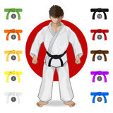 KARATE Martial Art Belt Rank System. An Illustration Of Martial Art - KARATE Belt Rank System Royalty Free Stock Photos