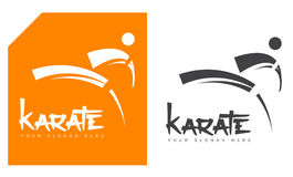 Karate martial arts logo Royalty Free Stock Images