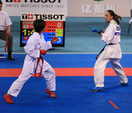 Karate match Stock Photo