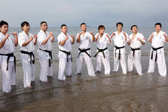 Karate men royalty free stock photography