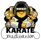 Karate music Royalty Free Stock Images