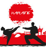 Karate occupations - Grunge background Royalty Free Stock Photos