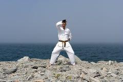 Karate op de kusten van het overzees Royalty-vrije Stock Foto's