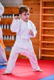 Karate opleiding stock fotografie