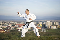 Karate outdoor Stock Photo