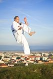 Karate outdoor Royalty Free Stock Photo