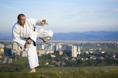 Karate outdoor Royalty Free Stock Photos