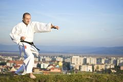 Karate outdoor Stock Photo