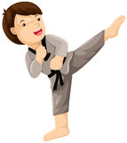 Karate player Royalty Free Stock Images