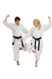 Karate practicante fotografía de archivo