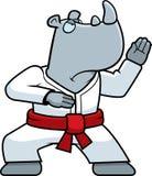 Karate Rhino Royalty Free Stock Image